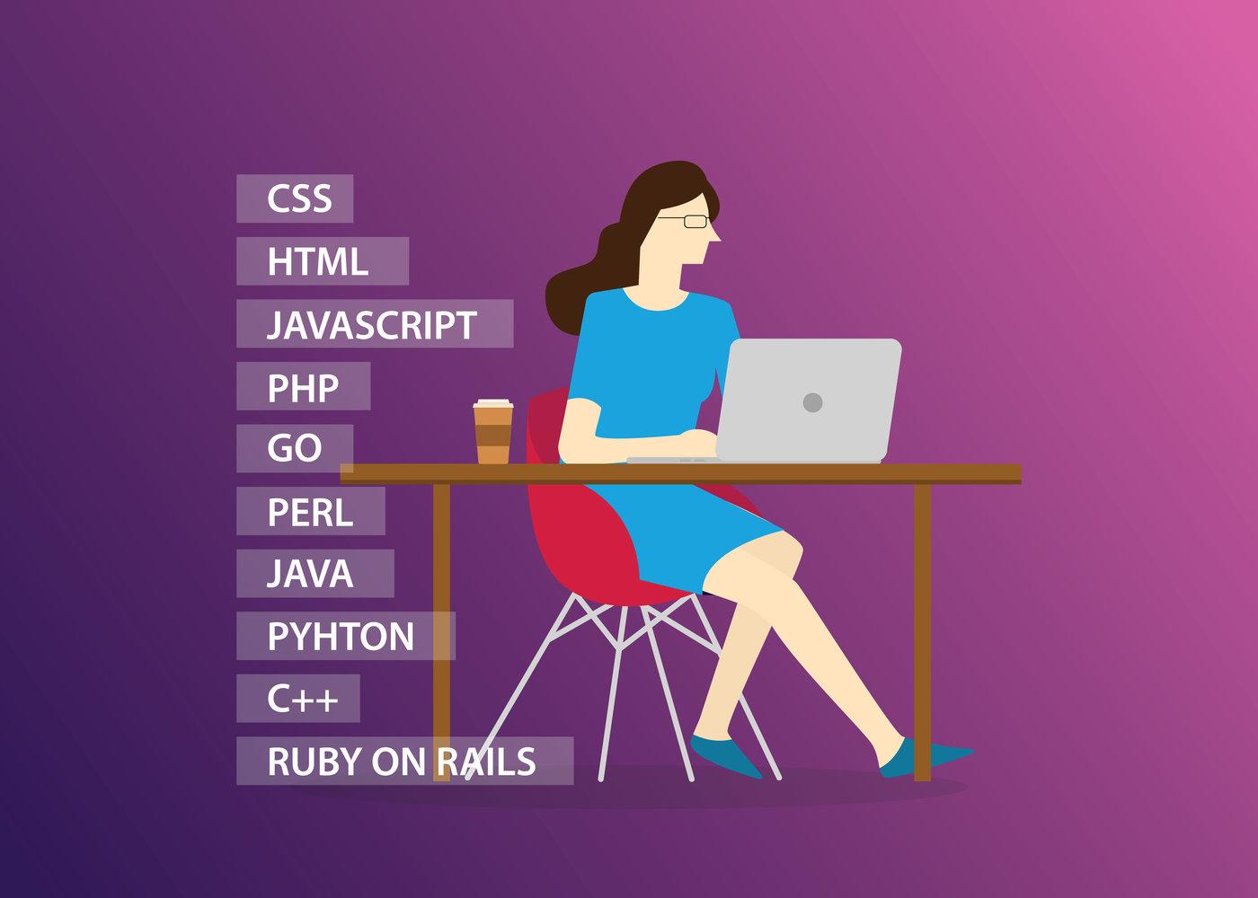 women female programming in programming career website development